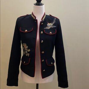 Zara trafaluc outerwear embroidered jacket